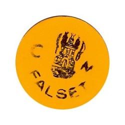 España 1 Ptas. 1937. FALSET-(T). EBC+/SC-. (Plastico/Celuloide naranja). (Consejo). MUY RARO/A. y mas asi. TU. 1122 - LGC. 629