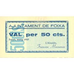 España 50 Cts. 1937. FOIXA-(Gi). SC. (Ayuntamiento). TU. 1199 - LGC. 654 A