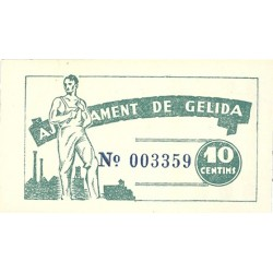 España 10 Cts. 1937. GELIDA-(B). SC. (Ayuntamiento-Serie A). TU. 1288 - LGC. 706 B