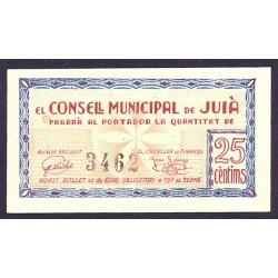 España 25 Cts. 1937. JUIA-(Gi). SC. (Consejo). RARO/A. TU. 1473 - LGC. 803 A