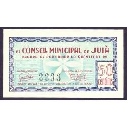 España 50 Cts. 1937. JUIA-(Gi). SC. (Consejo). RARO/A. TU. 1472 - LGC. 803 B
