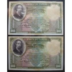España 1000 Ptas. 1931. SC. (Nuevo de paquete. Tono/mancha del tiempo). MUY ESCASO/A. PIK. 84 A - EDF. C3. (92x152mm)
