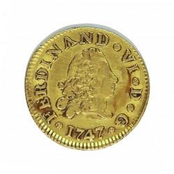 España ½ Escudos. 1747. M-(Madrid). J*B*. MBC/MBC+. AU. 1,7gr. Ø15mm. CT. 215 - KM. 372