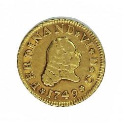 España ½ Escudos. 1749. M-(Madrid). JB. MBC-/MBC. AU. 1,69gr. Ø15mm. CT. 218 - KM. 378
