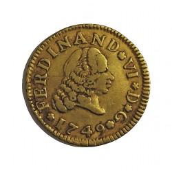 España ½ Escudos. 1749. M-(Madrid). JB. MBC. AU. 1,6gr. Ø15mm. CT. 218 - KM. 378