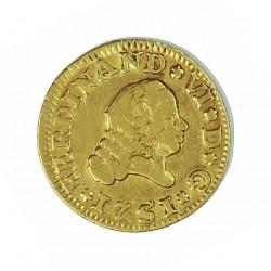 España ½ Escudos. 1751. S-(Sevilla). PJ. MBC-. ESCASO/A. AU. 1,69gr. Ø15mm. CT. 238 - KM. 374