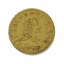España ½ Escudos. 1756. M-(Madrid). JB. MBC-/MBC. AU. 1,69gr. Ø15mm. CT. 226