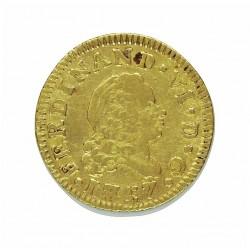 España ½ Escudos. 1757. (Rosetas). M-(Madrid). JB. MBC-/MBC. AU. 1,69gr. Ø15mm. CT. 228 - KM. 378