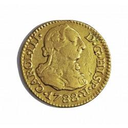 España ½ Escudos. 1788. S-(Sevilla). C. MBC-/MBC. AU. 1,69gr. Ø15mm. CT. 731 - KM. 425.2