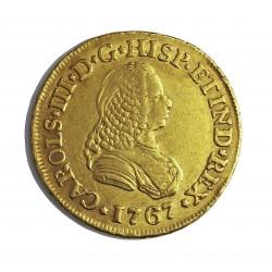 España 2 Escudos. 1767. P.N.-(Popayan)-(Colombia). J. MBC. (Gpctos.cto.). AU. 6,767gr. Ø23mm. CT. 440 - KM. 36.2