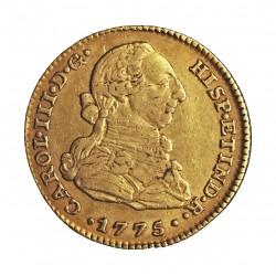 España 2 Escudos. 1775. M-(Madrid). PJ. MBC/MBC+. AU. 6,77gr. (22mm). KM. 417.1 - AUC. 1549