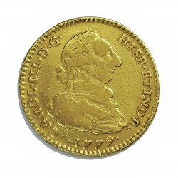 España 2 Escudos. 1779. NR-(N.Reino/Sta.Fe).(Colombia). JJ. MBC-. AU. 6,767gr. Ø23mm. CT. 495 - KM. 49.1