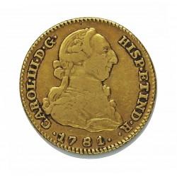 España 2 Escudos. 1781. (M)-Madrid. PJ. MBC-. AU. 6,767gr. Ø22mm. CT. 360 - KM. 417.1