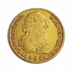 España 2 Escudos. 1788. (M)-Madrid. M. MBC-/MBC. (Imagen tipo). AU. 6,767gr. Ø22mm. CT. 364 - KM. 417.1a