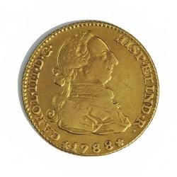 España 2 Escudos. 1788. (M)-Madrid. M. MBC-/MBC. AU. 6,767gr. Ø22mm. CT. 364 - KM. 417.1a