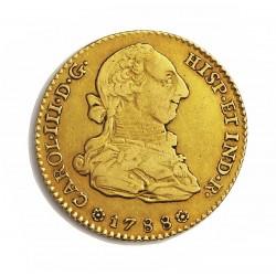 España 2 Escudos. 1788. S-(Sevilla). C. MBC-/MBC. AU. 6,767gr. Ø22mm. CT. 373 - KM. 417.2a
