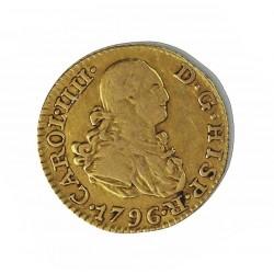 España ½ Escudos. 1796. (M)-Madrid. MF. MBC-/MBC. RARO/A. AU. 1,69gr. Ø15mm. CT. 571 - KM. 433