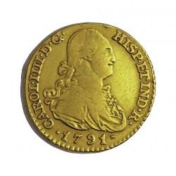 España 1 Escudos. 1791. (M)-Madrid. MF. MBC-. AU. 3,38gr. Ø18mm. CT. 422 - KM. 434