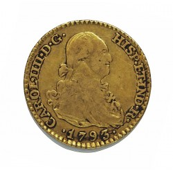 España 1 Escudos. 1793. (M)-Madrid. MF. MBC-/MBC. AU. 3,38gr. Ø18mm. CT. 424 - KM. 434
