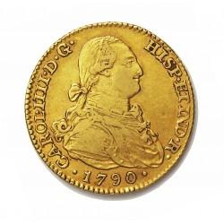 España 2 Escudos. 1790. (M)-Madrid. MF. MBC. AU. 6,77gr. Ø22mm. CT. 270 - KM. 435.1