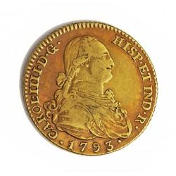 España 2 Escudos. 1793. (M)-Madrid. MF. MBC/MBC+. (Patina). AU. 6,77gr. Ø22mm. CT. 271 - KM. 435.1