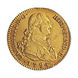 España 2 Escudos. 1794. M-(Madrid). MF. EBC+/SC-. AU. 6,77gr. Ø22mm. KM. 435.1 - AUC. 1282