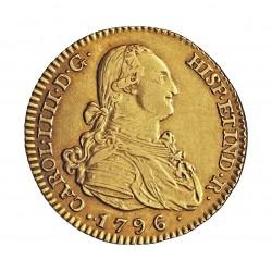 España 2 Escudos. 1796. /4. M-(Madrid). MF. EBC-/EBC. AU. 6,77gr. Ø22mm. KM. 435.1 - AUC. 1287