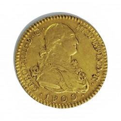 España 2 Escudos. 1800. (M)-Madrid. MF. MBC+/EBC-. AU. 6,77gr. Ø22mm. CT. 278 - KM. 435.1