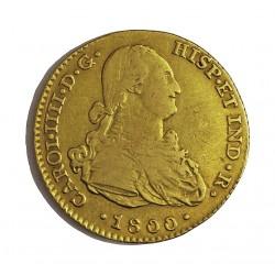 España 2 Escudos. 1800. Sevilla. CN. MBC-/MBC. AU. 6,77gr. Ø22mm. CT. 300 - KM. 435.1