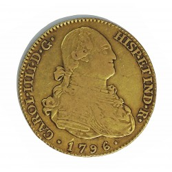 España 4 Escudos. 1796. (M)-Madrid. MF. MBC-. AU. 13,5gr. Ø28mm. CT. 157 - KM. 436.1