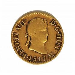 España ½ Escudos. 1817. M-(Madrid). G.J. MBC-/MBC. AU. 1,69gr. Ø14,5mm. CT. 311 - KM. 492