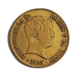 España 2 Escudos. 1823. M-(Madrid). S.R. MBC-/MBC. AU. 6,77gr. Ø21mm. CT. 170