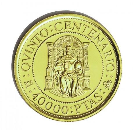 España 40000 Ptas. 1990. FDC. (VºCº-Felipe II). AU. 13,5gr. Ø30mm. HG. 646