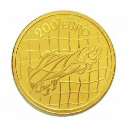 UE 200 €. 2002. PRF. (Mundial Futbol-Bota-Regate). AU. 13,5gr. Ø30mm