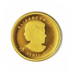 Canada 50  Cent. 2009. PRF. (Maple). AU. 1,27gr. Ø13,92mm