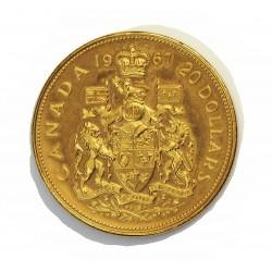 Canada 20  Dolar. 1967. PRF. (Dos pqñas.marquitas anv.). (Centenario). AU. 18,273gr. Ø27mm. KM. 71