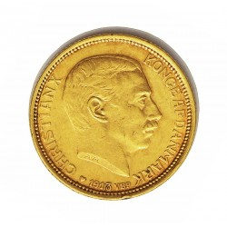 Dinamarca 10 Kroner. 1913. (h)-Copenhagen. VBP-AH/GJ. SC-/SC. (Marquitas anv.). ESCASO/A. AU. 4,48gr. Ø18mm. KM. 816