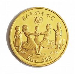 Ethiopia 400 Birr. 1979. PRF. (EE-1972)-(Año Int.del Niño). AU. 17,17gr. Ø39mm. KM. 60