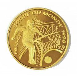 Francia 100 Francos. 1998. PRF. (Mundial Futbol-Francia'98-Francia). AU. 17gr. Ø31mm. KM. 1172 - GAD. 10