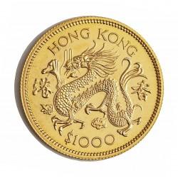 Hong Kong 1000 Dolar. 1976. SC. (Año del dragon). AU. 15,97gr. Ø28mm. KM. 40