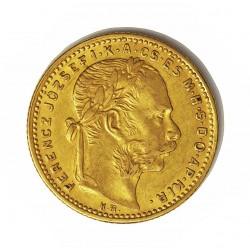 Hungria 8 Forint. 1884. KB-(Kremnitz). MBC+. (20 Fr./8 Fl.). AU. 6,452gr. Ø21,5mm. KM. 455,1