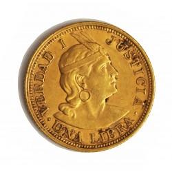 Peru 1 Libra/Pound. 1910. Lima. G.OZ.G. EBC+/SC-. AU. 7,988gr. Ø22mm. KM. 207