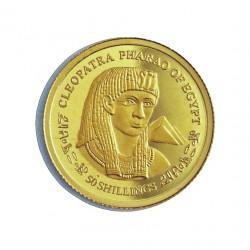 Somalia 50 Shilling. 2004. PRF. (Cleopatra). AU. 1,2gr. Ø14mm. KM. .