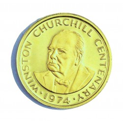 Turks Caicos 50 Corona. 1974. PRF. (Churchill). AU. 9gr. Ø25mm. KM. 3