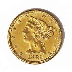 Usa 5 Dolar. 1882. Filadelfia. MBC-. (Marquitas). (Tipo Liberty). AU. 8,36gr. Ø22mm. KM. 101