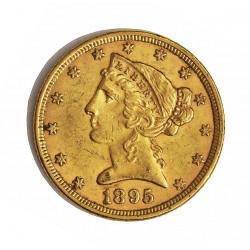 Usa 5 Dolar. 1895. Filadelfia. MBC. (Marquitas). (Tipo Liberty). AU. 8,36gr. Ø22mm. KM. 101