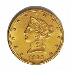 Usa 10 Dolar. 1895. Filadelfia. EBC+/SC-. (Lev.marquitas de roce y gpcto.en cto.). (Tip.Liberty). AU. 16,718gr. Ø27mm. KM. 102