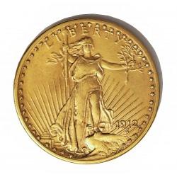 Usa 20 Dolar. 1912. Filadelfia. EBC+. (Tipo St.Gaudens). AU. 33,436gr. Ø34mm. KM. 131