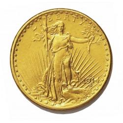 Usa 20 Dolar. 1914. S-(St.Francisco). EBC+. (Tipo St.Gaudens).(Imagen Tipo). AU. 33,436gr. Ø34mm. KM. 131
