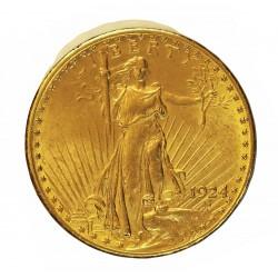 Usa 20 Dolar. 1924. Filadelfia. EBC+. (Lev.marquitas por limpieza en rev.). (Tipo St.Gaudens). AU. 33,436gr. Ø34mm. KM. 131